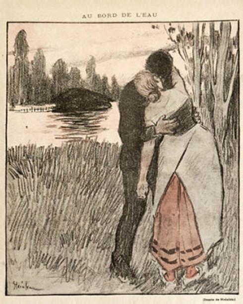 T.-A. Steinlen, ILLUSTRAZIONE PER Au Bord de L'Eau di Guy de Maupassant, «Gil Blas Illustré» (1893)