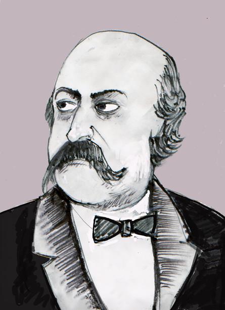 Gustave Flaubert, ritratto di Mimmo Lombezzi