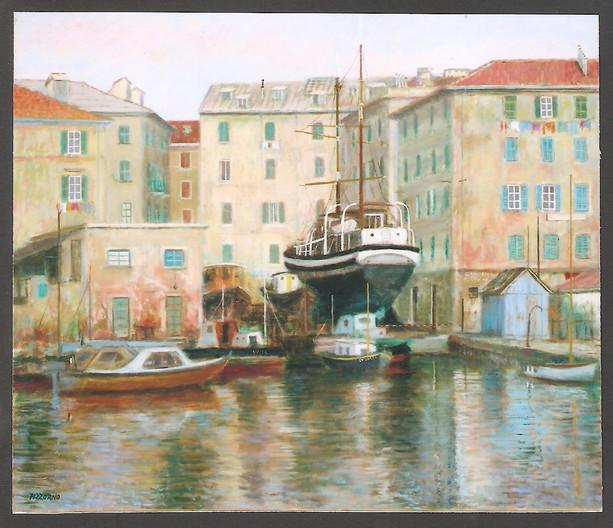 Giancarlo Pizzorno, Costa del Sol, 1990, olio su tela, cm. 60x70 (coll. priv.)