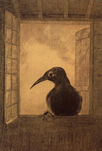 Odilon Redon, Il corvo, 1888