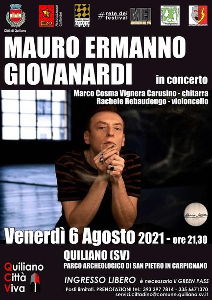 Mauro Ermanno Giovanardi in concerto a Quiliano
