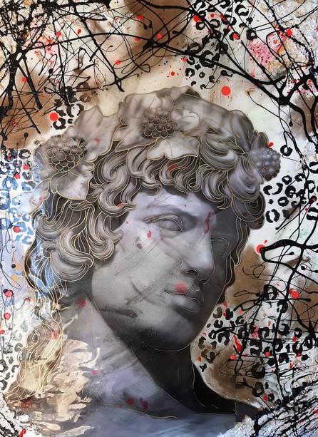 Italo Rocca, Dioniso, 2019, tecnica mista, cm. 90x65