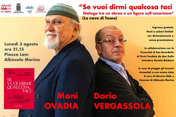 Moni Ovadia e Dario Vergassola domani a Parole ubikate in mare
