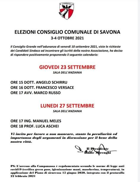 L'associazione A Campanassa incontra i candidati sindaco