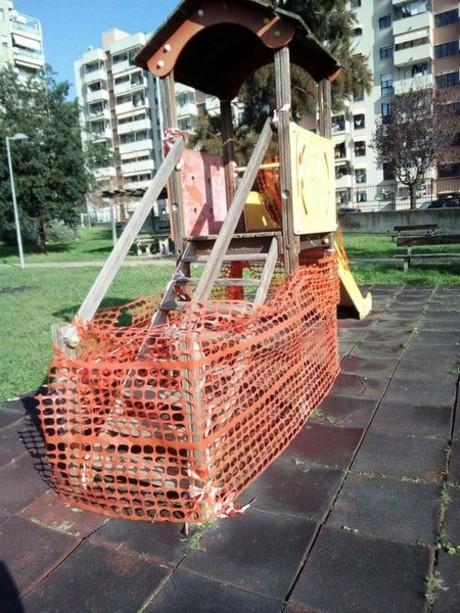 Savona, aree giochi nel degrado