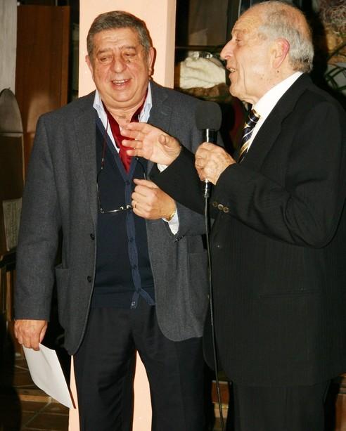 Renato Allegra con Enzo Motta