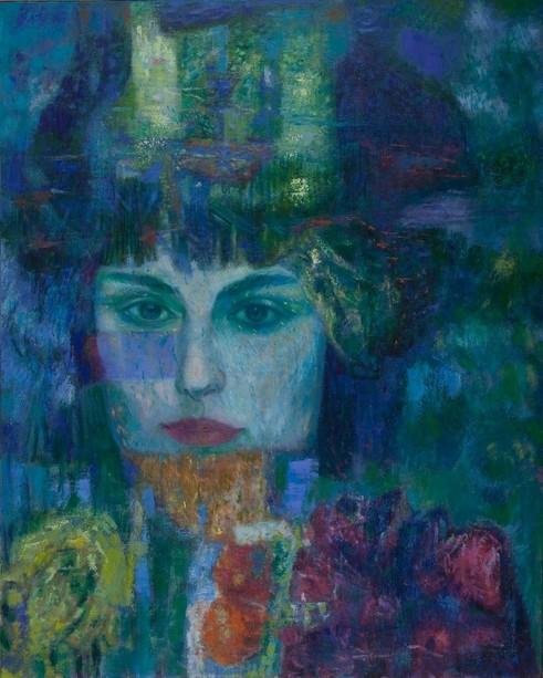 Giuseppe Trielli, Acque blu e occhi di Paradiso, 2013, olio su tela, cm. 80x100