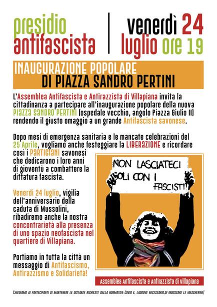Piazza Sandro Pertini: l'inaugurazione popolare