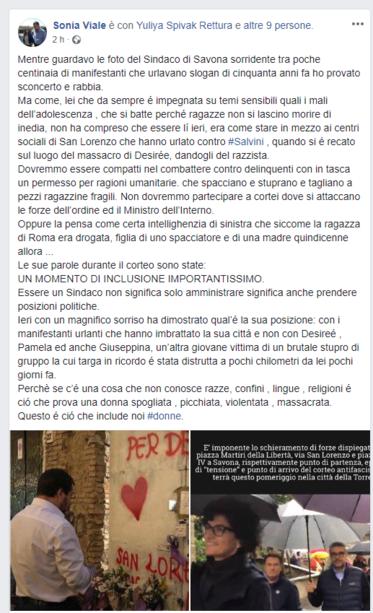 Viale contro Caprioglio: l'oscena sbottata